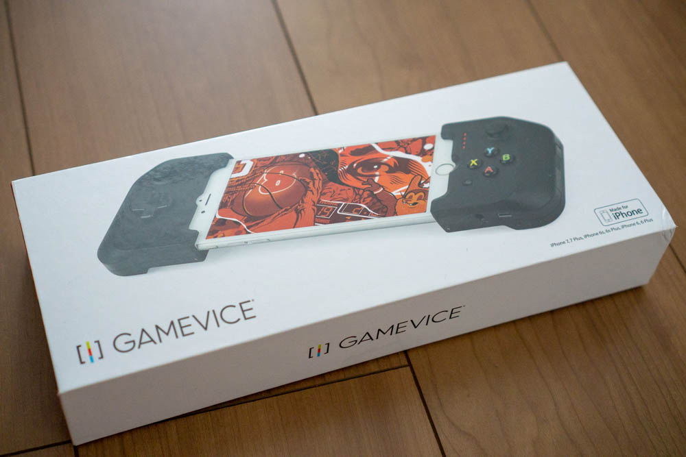 「GAMEVICE Game Controller for iPhone v2」パッケージ表面