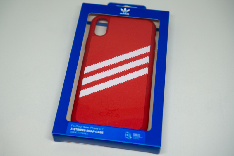 adidas Originals Moulded case iPhone XRレッドパッケージ