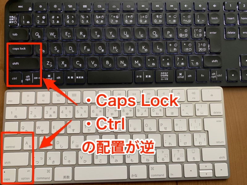 上:CRAFT 下:Magic Keyboard