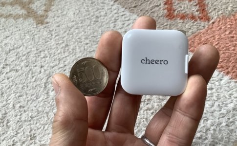 cheero「USB-C PD Charger 18w mini(CHE-329)」レビュー500円硬貨との比較