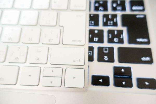 Magic Keyboardのカーソルが小さい