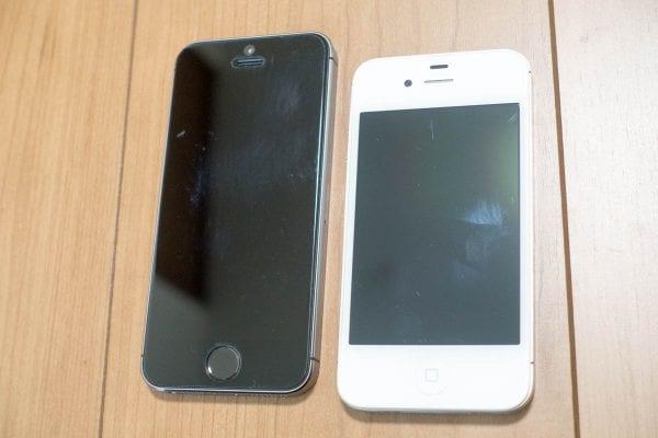 名機iPhone 4SとiPhone 5s