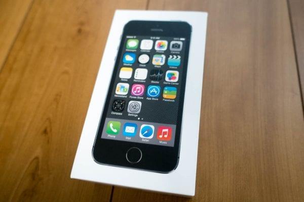 iPhone 5sの化粧箱