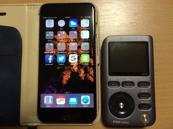 iPhone 6sとのサイズ比較