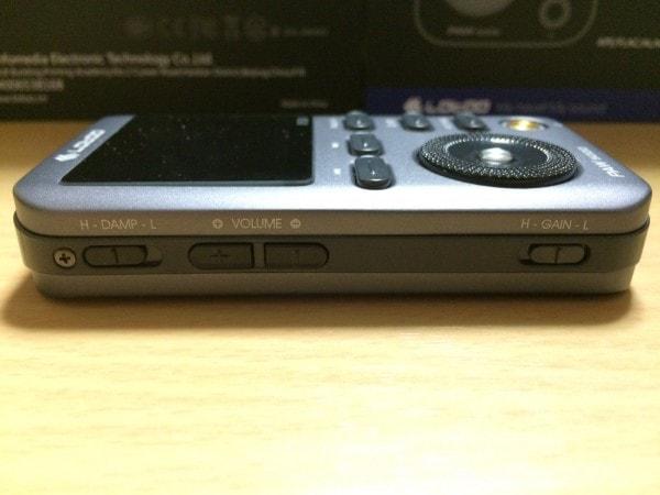 Lotoo PAW 5000のDAMPスイッチ