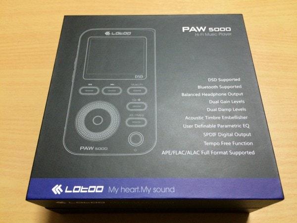Lotoo PAW 5000の箱