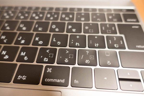 12インチMacBookのバタフライ構造キーボード