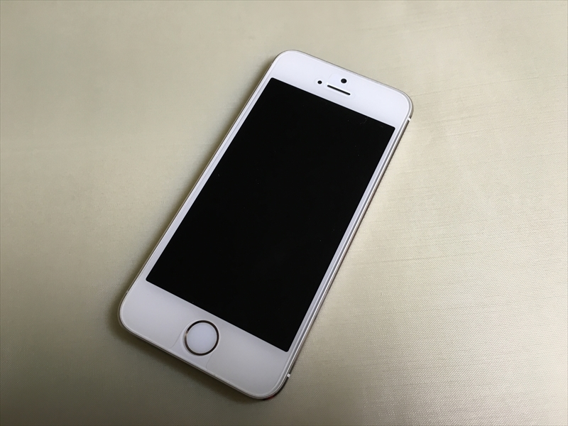 シン・フィット装着前のiPhone 5s(表)