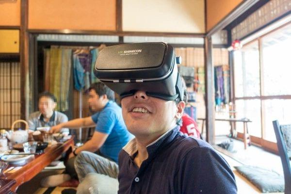 VR BOXを装着した僕