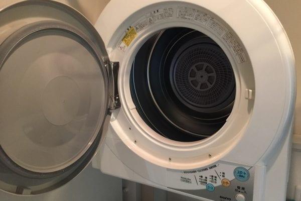 コンドミニアムにあった外付け洗濯乾燥機