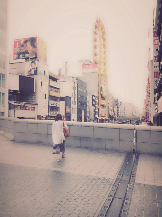 大阪単独遠征中の松田美里(引用元:公式ブログ)