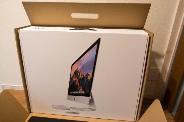 2017年1月購入したiMacの化粧箱