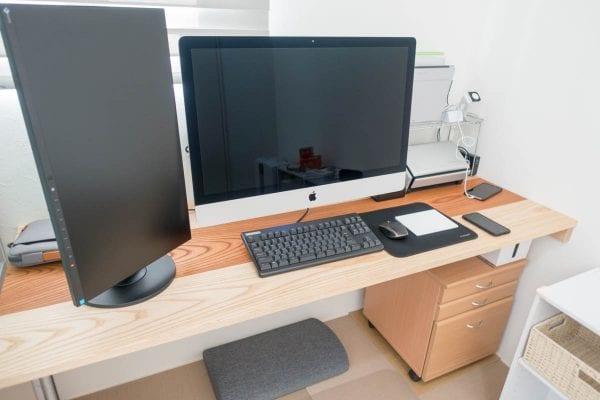 iMac 5Kを使う我が家のデスク