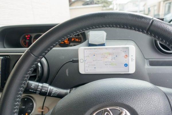 iPhone 6 Plusを車に搭載