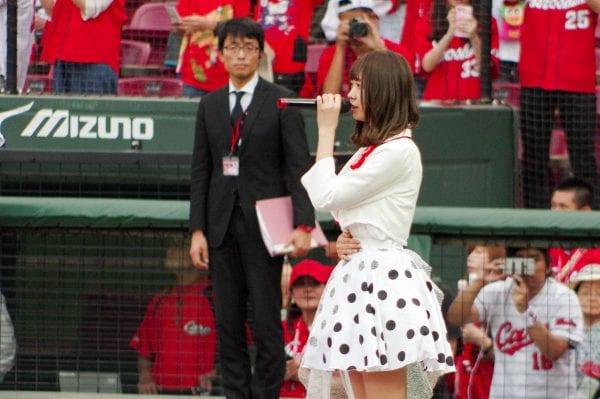 松田美里の国歌斉唱