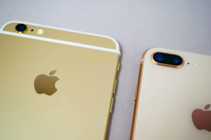 iPhone 6 PlusとiPhone 8 Plus(寄ってみた)