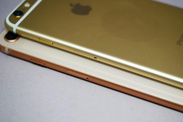 iPhone 6 PlusとiPhone 8 Plus(側面)