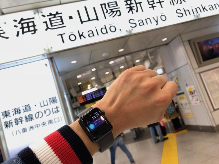 一番の感動は新幹線にApple Watchで乗れたこと
