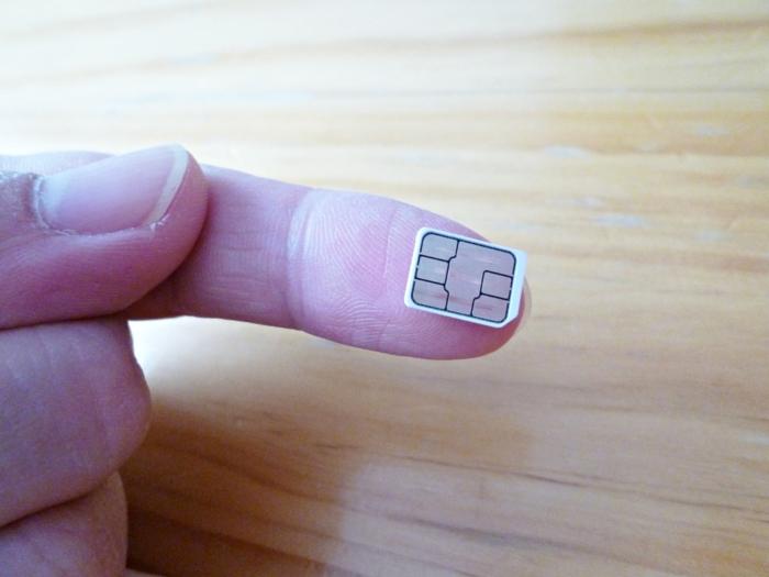 nanoSIMはこんなに小さい