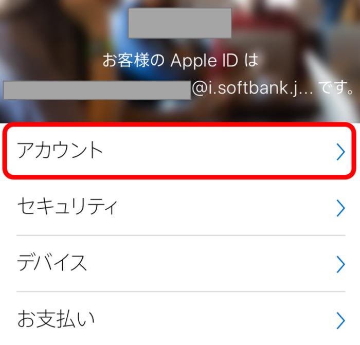 Apple IDとパスワードを入力して、アクセスが成功したときの画面