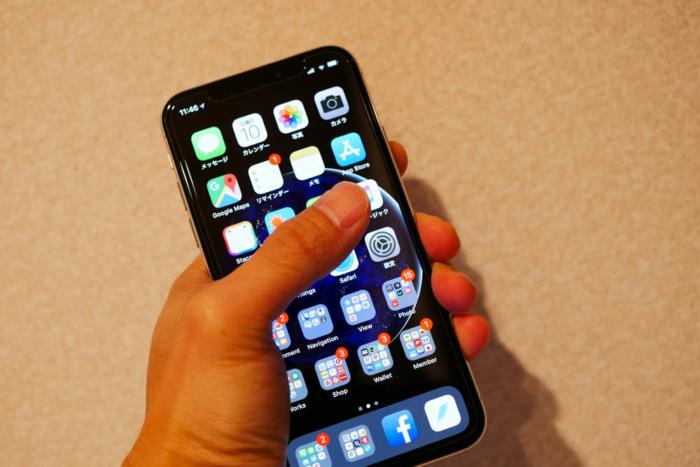 iPhone Xは持ちやすい