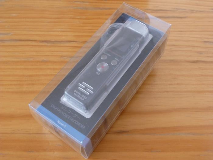 SoundPEATS(サウンドピーツ) Nano6 ボイスレコーダーの外装