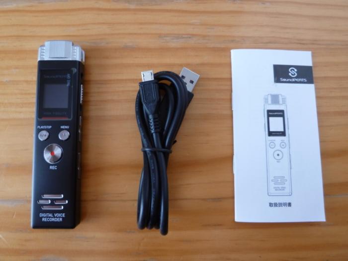 SoundPEATS(サウンドピーツ) Nano6 ボイスレコーダーの同梱品の画像