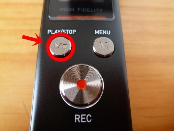 SoundPEATS(サウンドピーツ) Nano6 ボイスレコーダー 再生ボタン