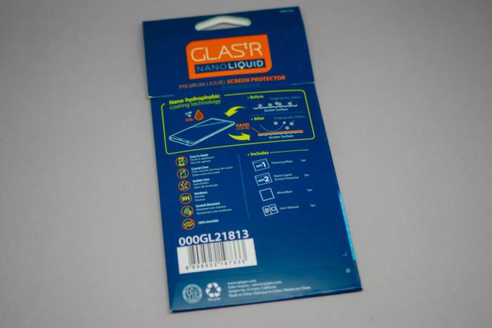 『GLAS.tR ナノリキッド』パッケージ裏面