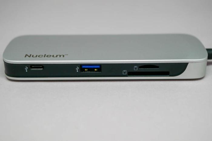 Nucleumのポート(USB-A、USB-C、SD、microSD)