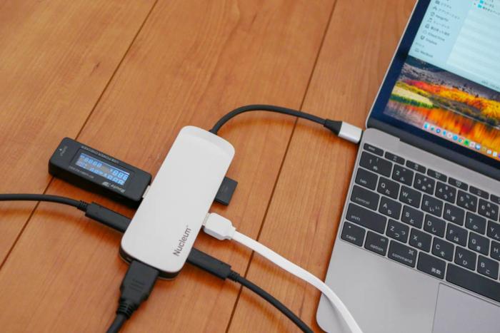 12インチMacBookに接続したNucleum