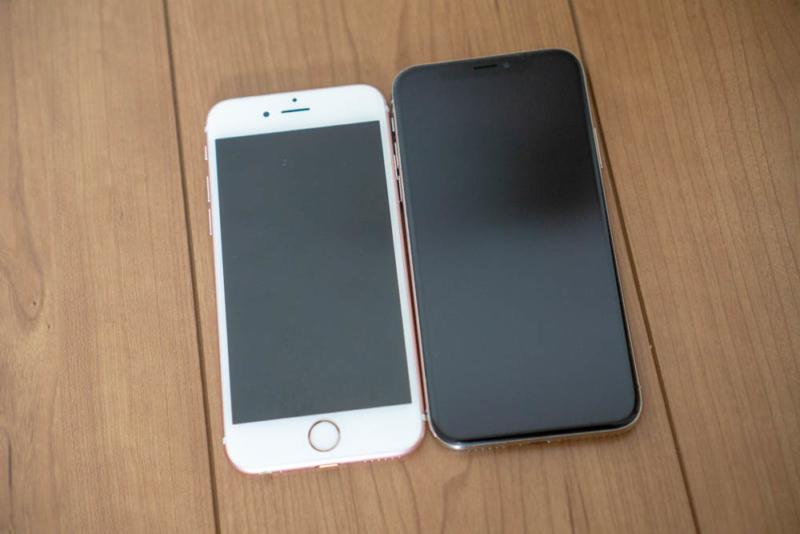 iPhone 6系とiPhone Xはサイズ感が近い