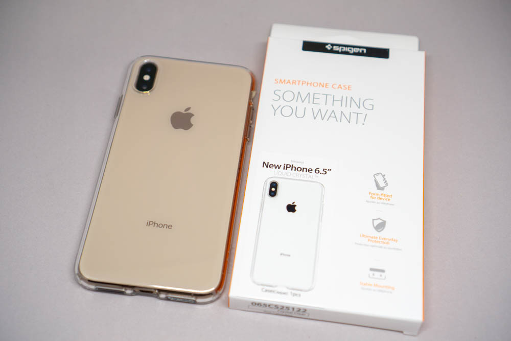 ed8fbed084 Spigen iPhone XS Maxケース「リキッド・クリスタル」レビュー。定番の ...