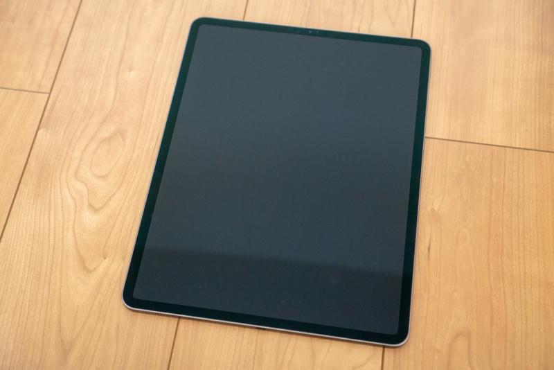 正面からiPad Proをチェック