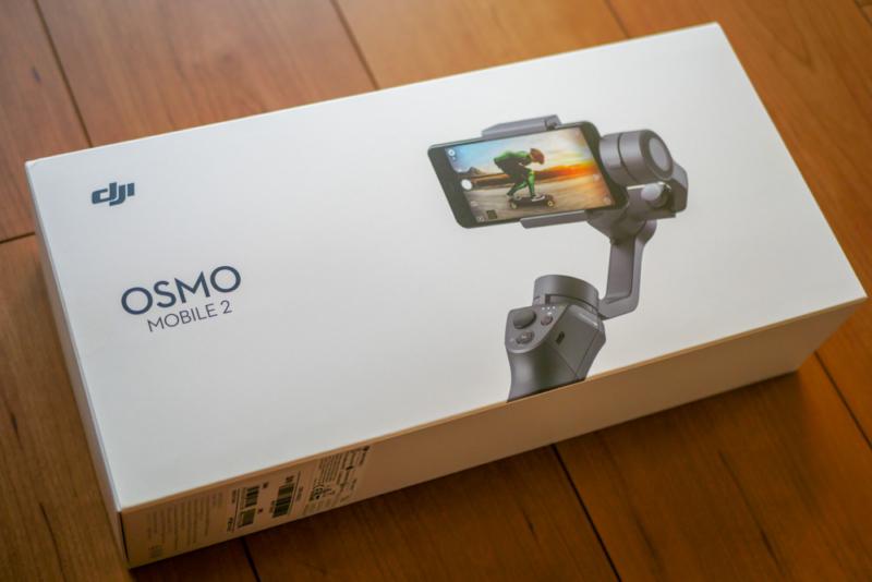 「DJI Osmo Mobile 2」のパッケージ(表)
