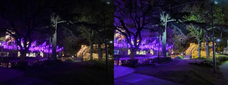 夜景モード比較 イルミネーション