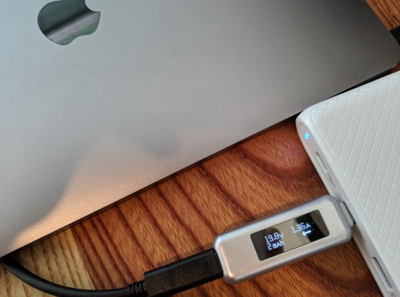 MacBookは約30Wで充電