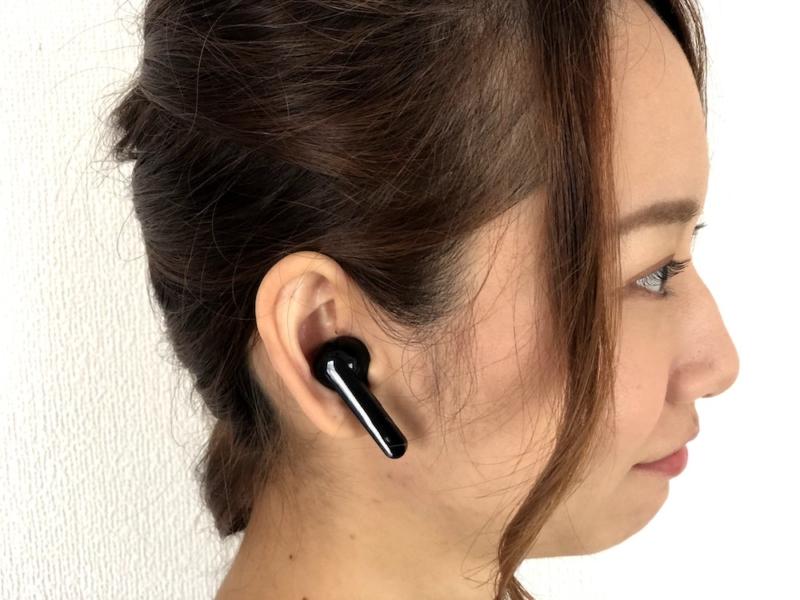 TruePods Bluetooth イヤホンを装着したゆりちぇる1