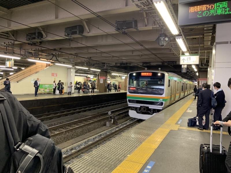 湘南新宿ラインがやってきた