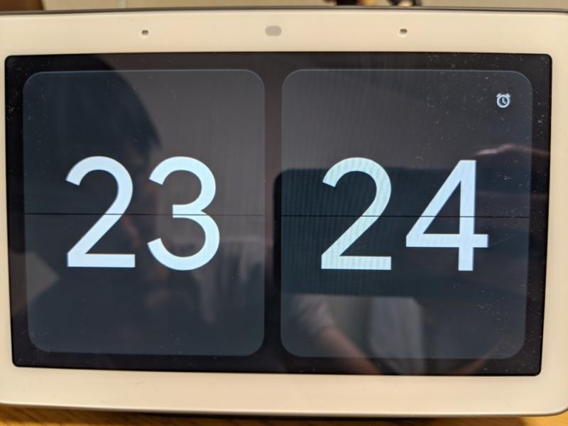 Google Nest Hubを置き時計として活用