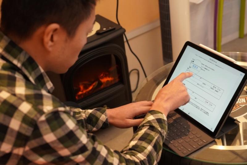 iPadはタッチパネルで操作が基本