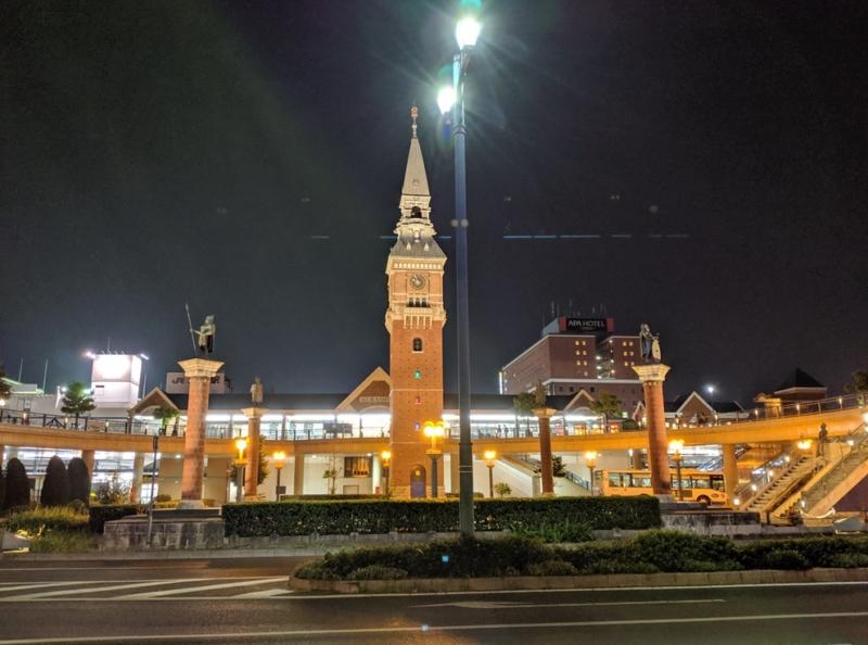 Pixel 3aで撮影したJR倉敷駅