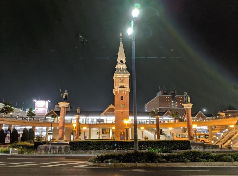Pixel 3で撮影したJR倉敷駅
