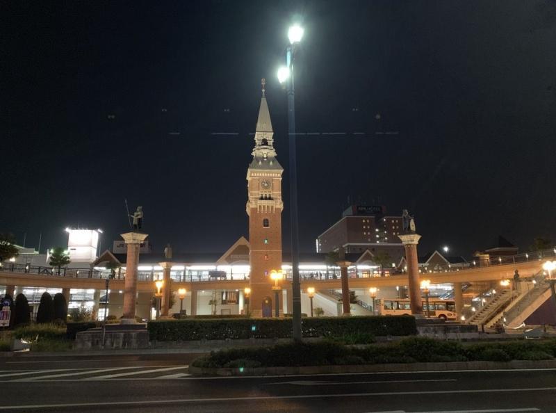 iPhone XS Maxで撮影したJR倉敷駅