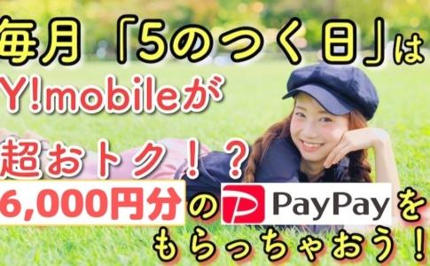 Y!mobile5のつく日PayPayキャンペーンゆりちぇるアイキャッチ
