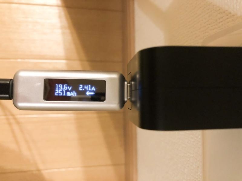 RAVPower 「RP-PC112」MacBook Proで充電チェック