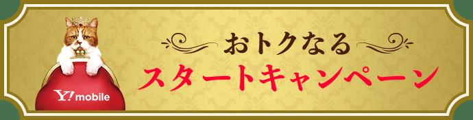 Y!mobile5周年おトクなるスタートキャンペーン