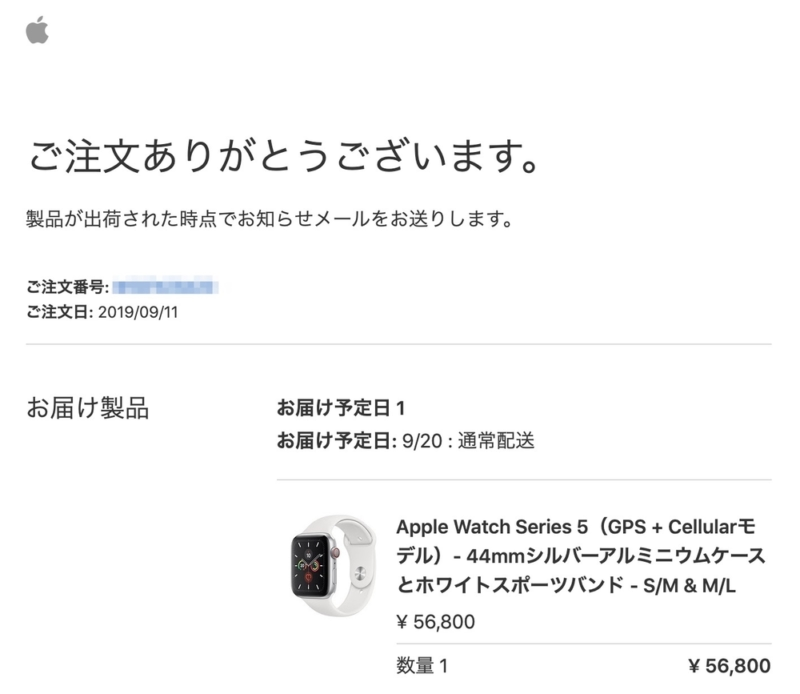 購入したApple Watch Series 5