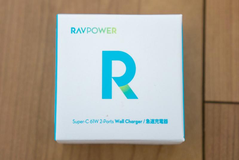 RAVPower「RP-PC105 61W 2ポートUSB充電器」のパッケージ