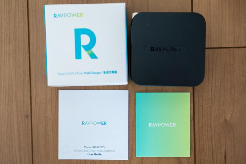 RAVPower「RP-PC105 61W 2ポートUSB充電器」開封後